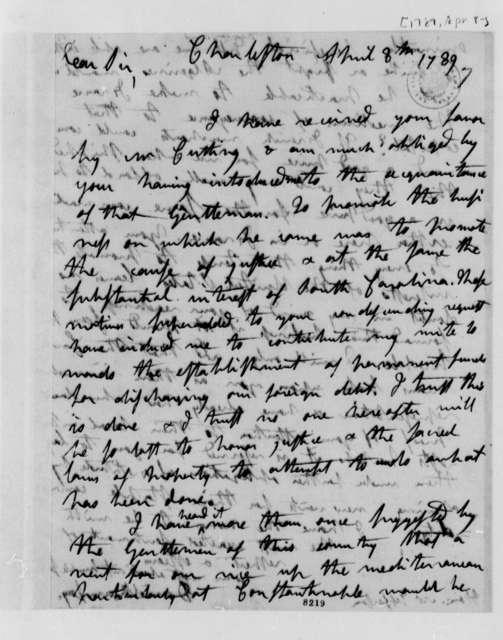 David Ramsay to Thomas Jefferson, April 8, 1789