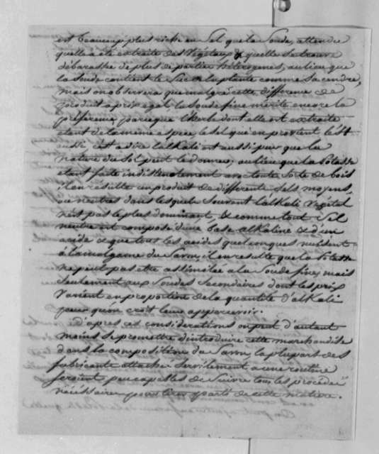 Dominique Audibert, January 26, 1789, Report on Using American Potash in Soap Making; in French