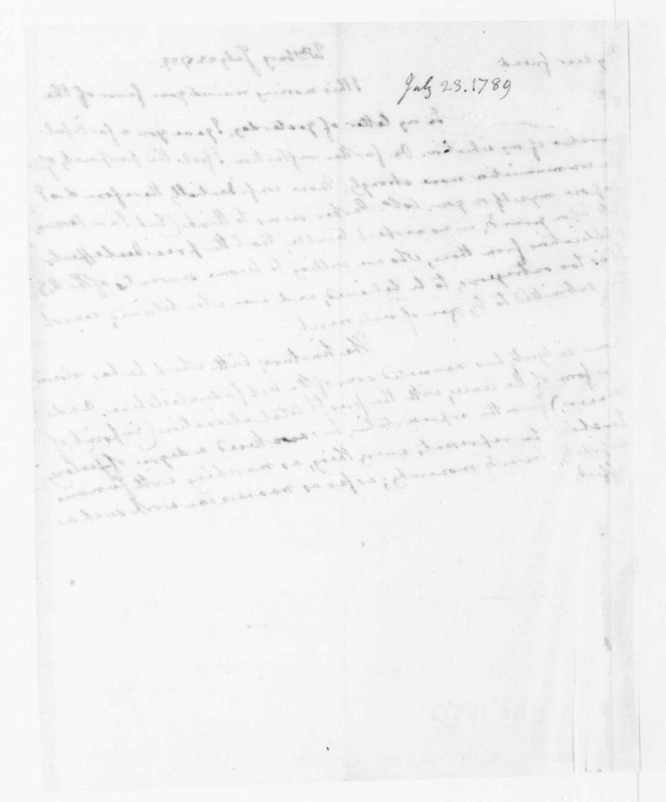 Edmund Randolph to James Madison, July 23, 1789.