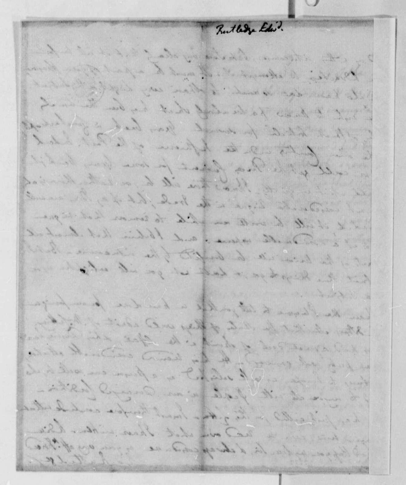 Edward Rutledge to Thomas Jefferson, May 1789
