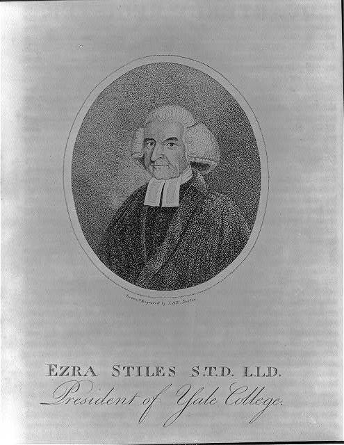 Ezra Stiles S.T.D. L.L.D. - president of Yale College / drawn & engraved by S. Hill, Boston.