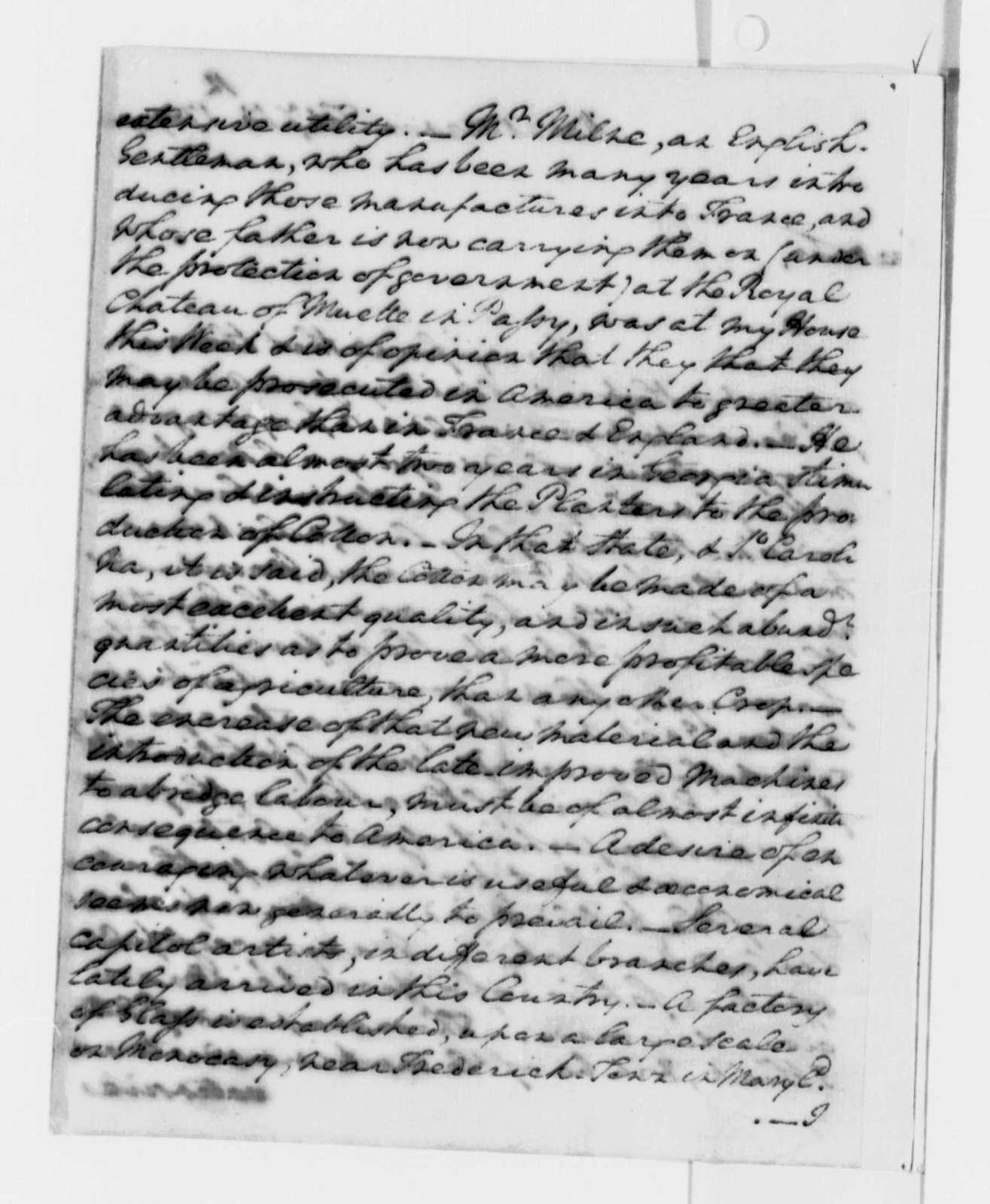 George Washington to Thomas Jefferson, February 13, 1789
