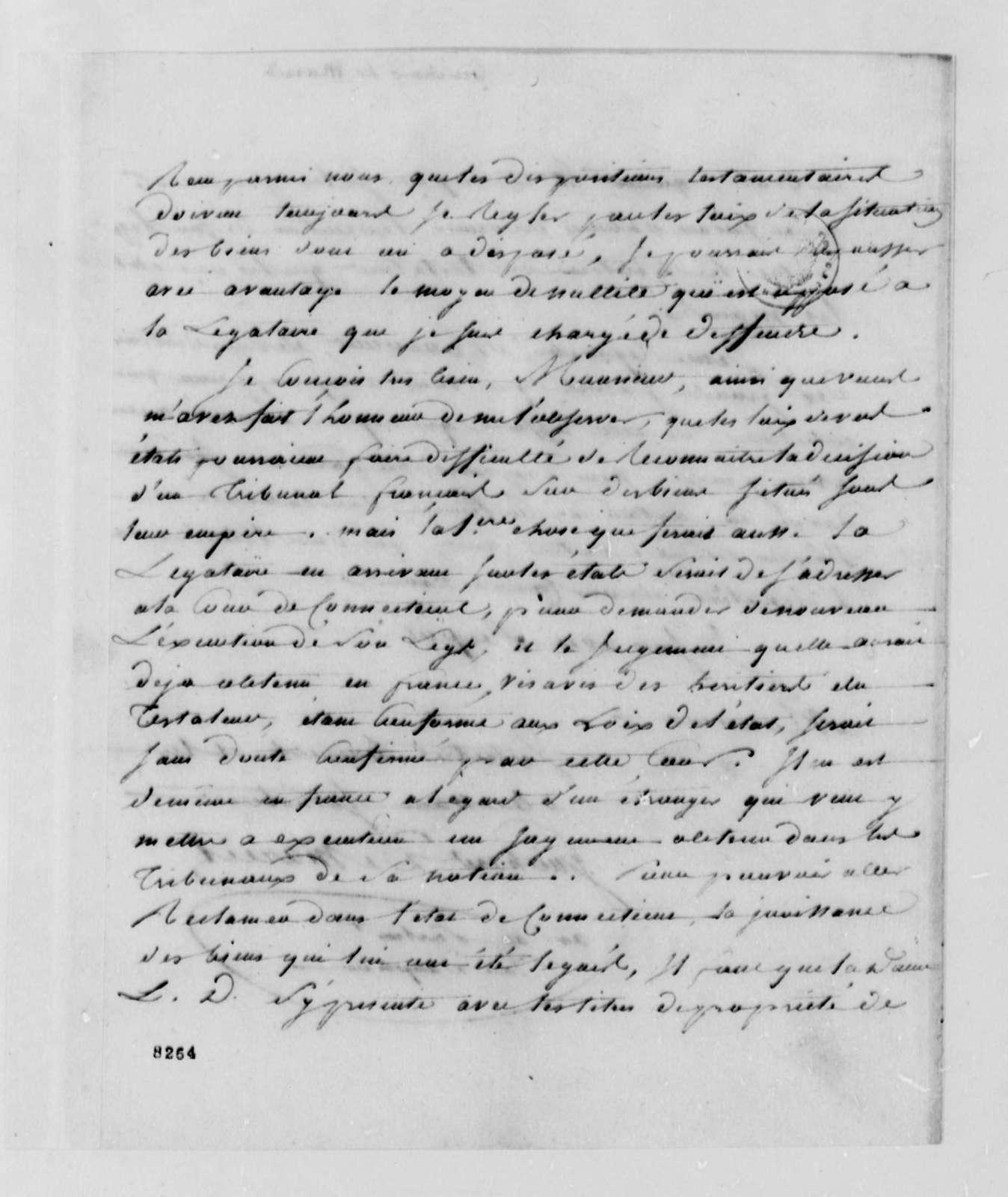 Guichard de Mareil to Thomas Jefferson, April 28, 1789, in French