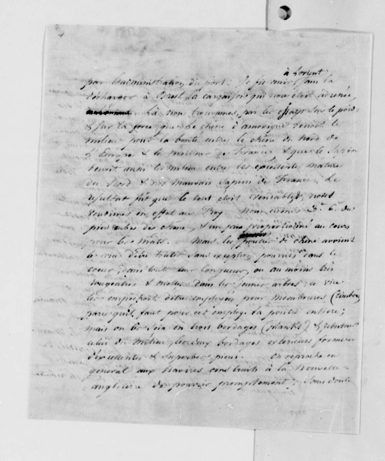 Jacob Vernes to Thomas Jefferson, November 3, 1789, in French