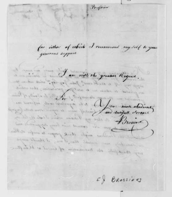 James I. Brossier to Thomas Jefferson, August 1789