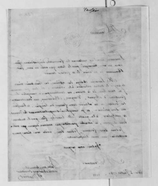 James I. Brossier to Thomas Jefferson, July 2, 1789, in French