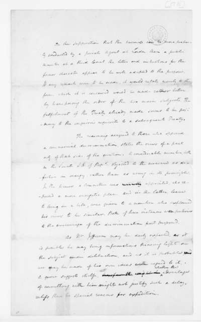 James Madison, December 25, 1790. Memo for George Washington on Having an Agent in London and Agent's Possible Status.