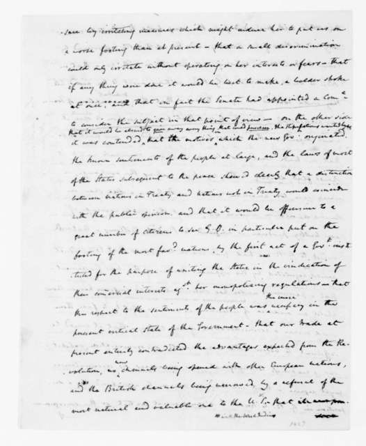 James Madison to Thomas Jefferson, June 30, 1789. [incomplete in original].