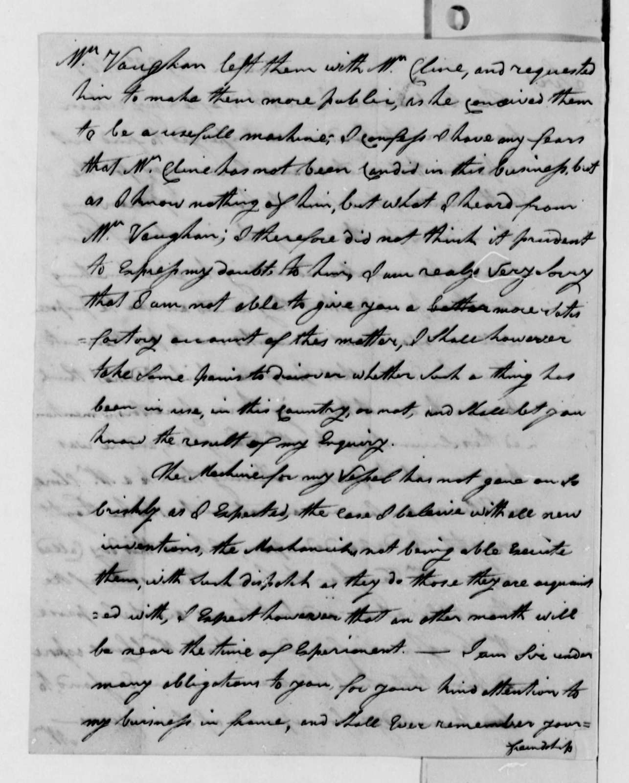 James Rumsey to Thomas Jefferson, May 22, 1789