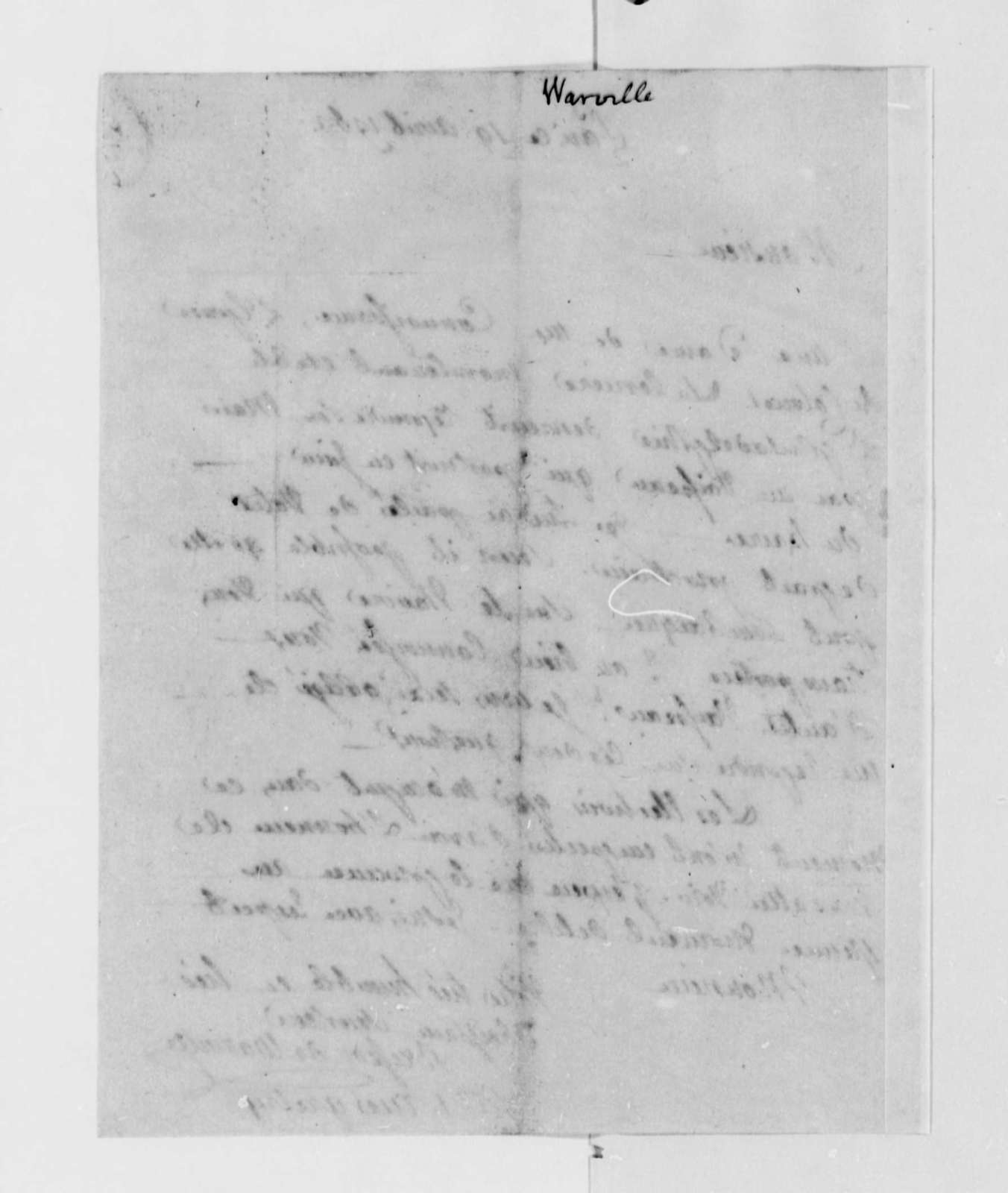 Jean Plumard Brissot de Warville to Thomas Jefferson, April 19, 1789