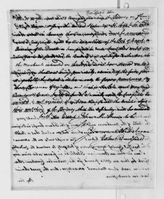 John Bondfield to Thomas Jefferson, February 14, 1789