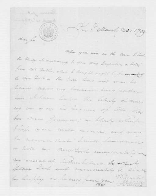 John Dawson to James Madison, March 20, 1789.