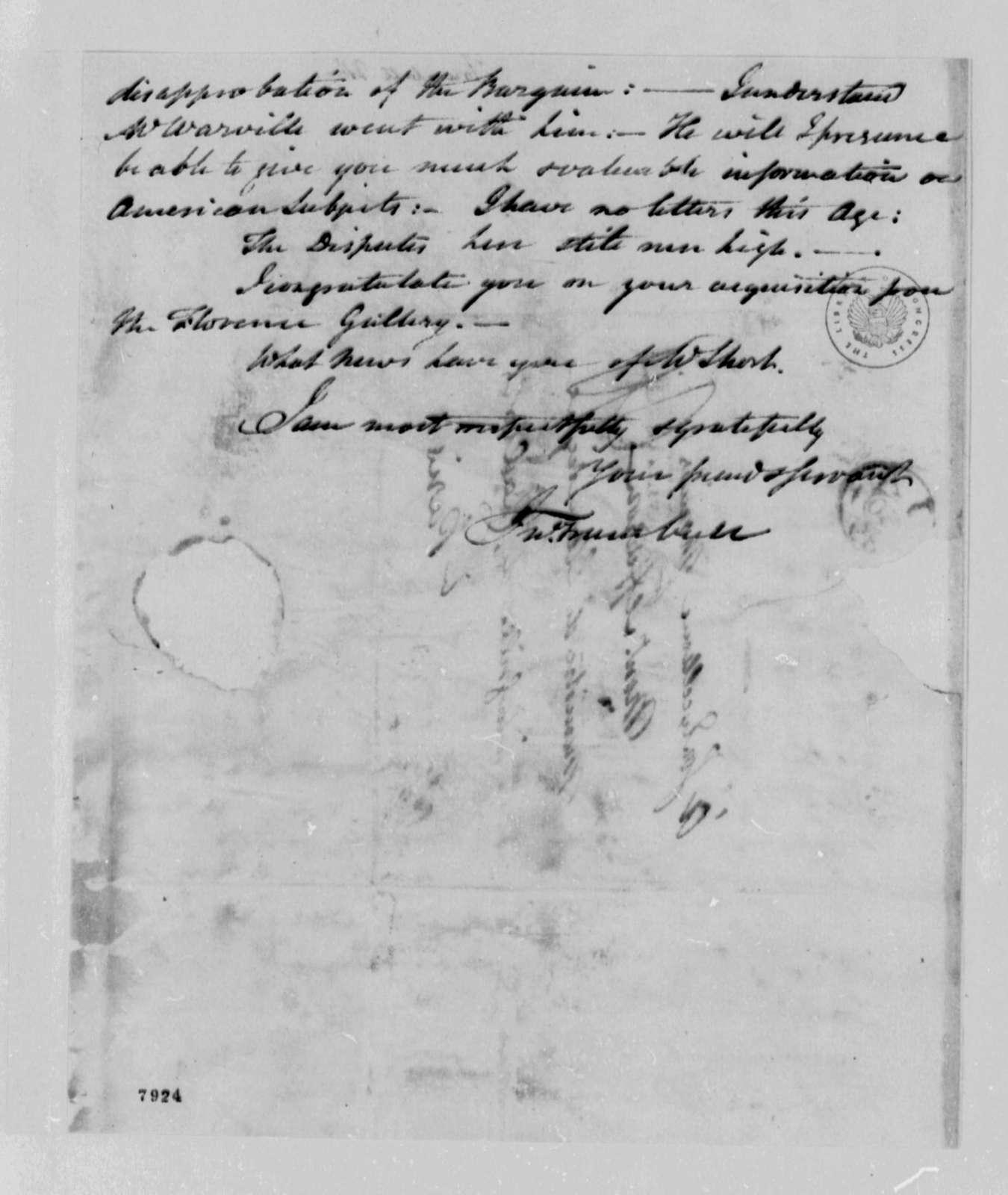 John Trumbull to Thomas Jefferson, January 24, 1789
