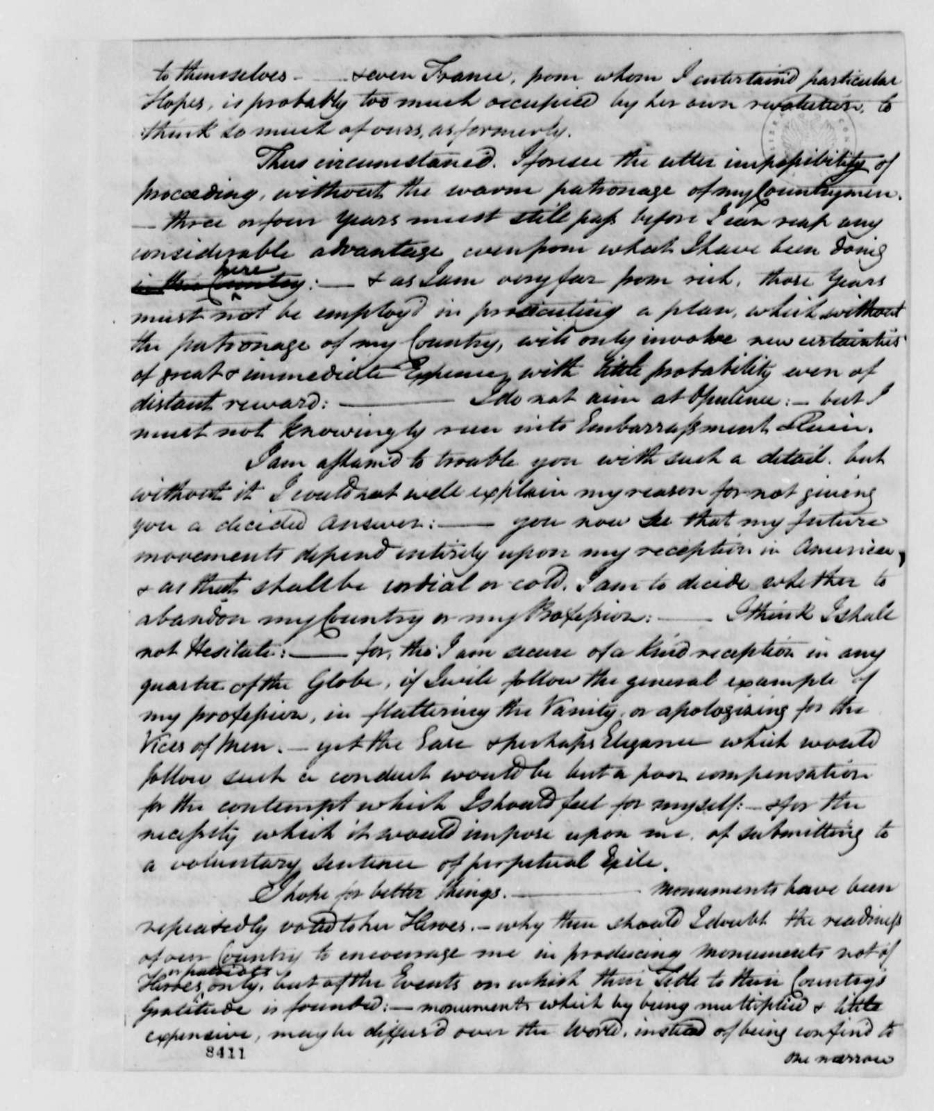 John Trumbull to Thomas Jefferson, June 11, 1789