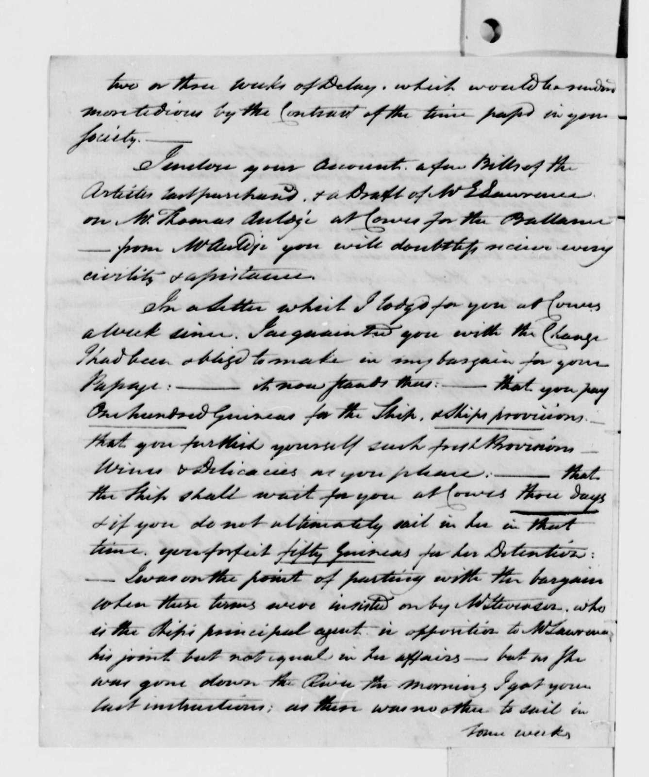 John Trumbull to Thomas Jefferson, October 10, 1789