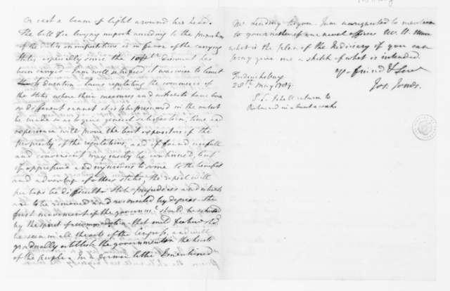 Joseph Jones to James Madison, May 31, 1789.