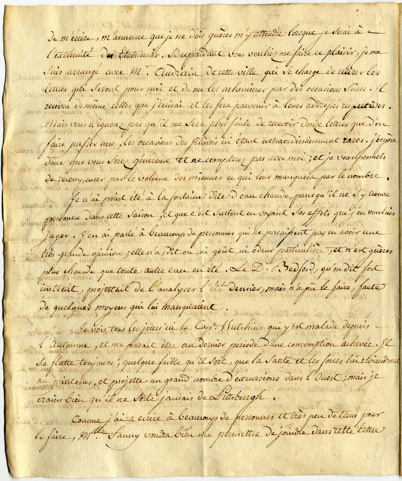 Letter from Barthelemi Tardiveau to St. John de Crevecoeur