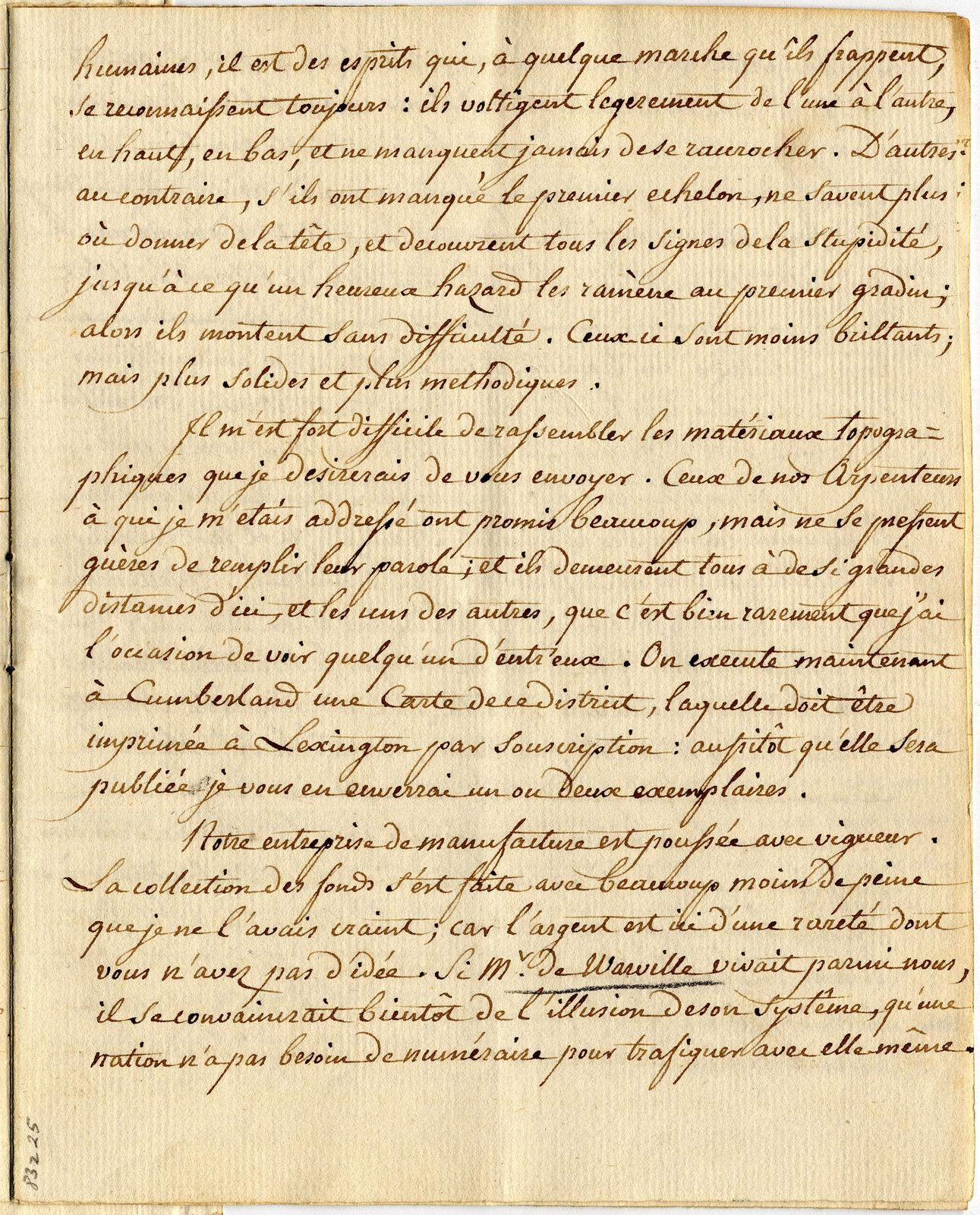 Letter from Barthelemi Tardiveau to St. John de Crevecoeur, 2nd