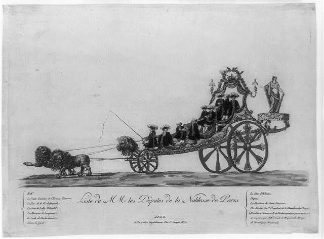 Liste de MM les Deputes de la noblesse de Paris
