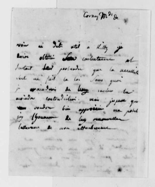 Madame de Corny to Thomas Jefferson, August 24, 1789
