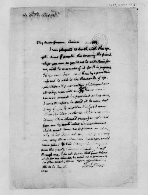Marie Joseph Paul Yves Roch Gilbert du Motier, Marquis de Lafayette to Thomas Jefferson, March 26, 1789
