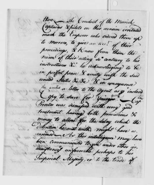 Maurice Roberts to William Carmichael, August 7, 1789, with Letter in Spanish from Francisco Chiappe to Guiseppe Chiappe