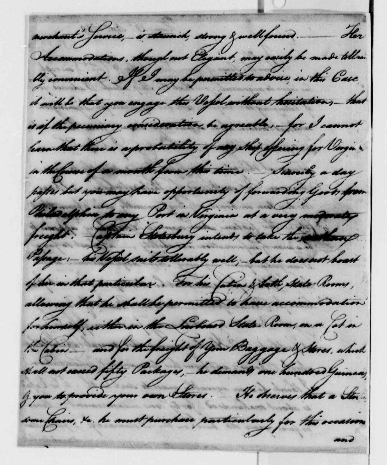 Nathaniel Cutting to Thomas Jefferson, September 12, 1789