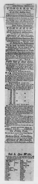 New York Daily Gazette, 1789, Clipping on Exports