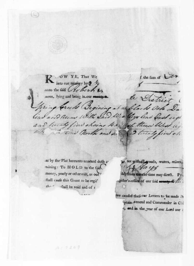 North Carolina to Robert Hays, April 16, 1789