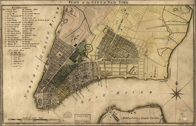 Plan of the city of New York.