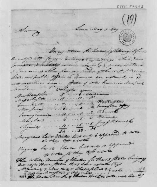 Samuel Broome to Thomas Jefferson, May 5, 1789