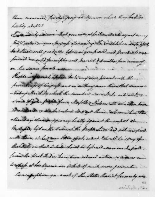Samuel Johnston to James Madison, July 8, 1789.