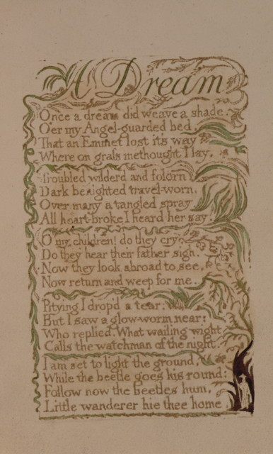 Songs of innocence. The author & printer W. Blake.