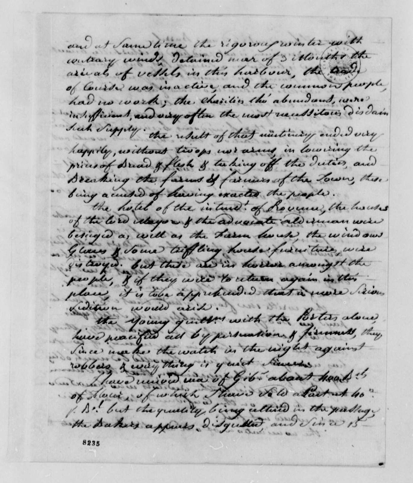 Stephen Cathalan, Jr. to Thomas Jefferson, April 12, 1789, with Account