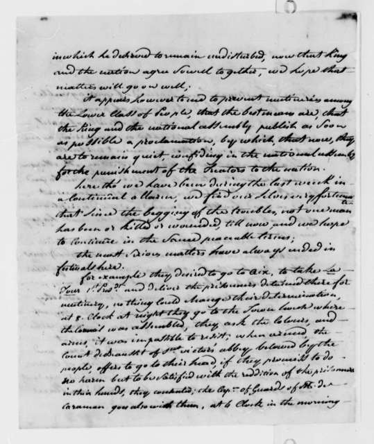 Stephen Cathalan, Jr. to Thomas Jefferson, August 2, 1789