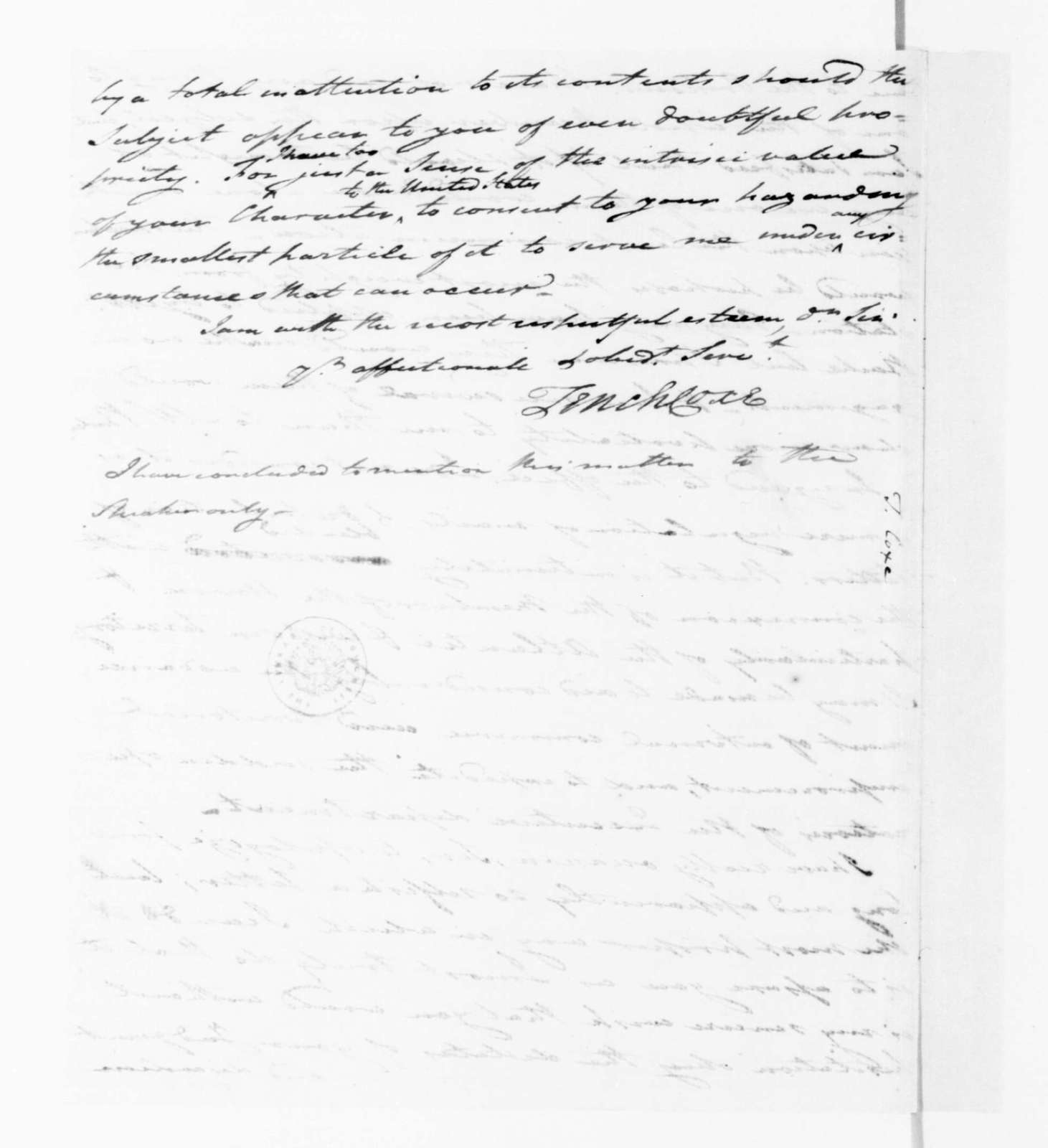 Tench Coxe to James Madison, September 17, 1789.