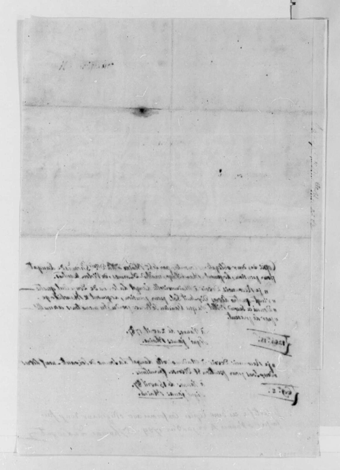 Thomas de Langat to Thomas Jefferson, January 22, 1789