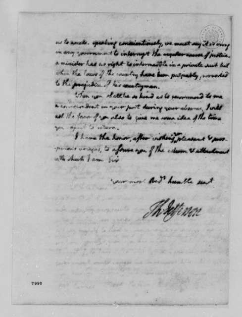 Thomas Jefferson to Burrill Carnes, February 15, 1789