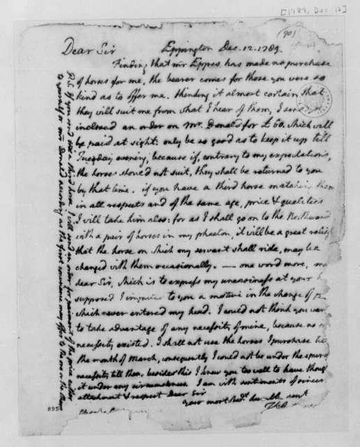 Thomas Jefferson to Charles Carter, December 12, 1789