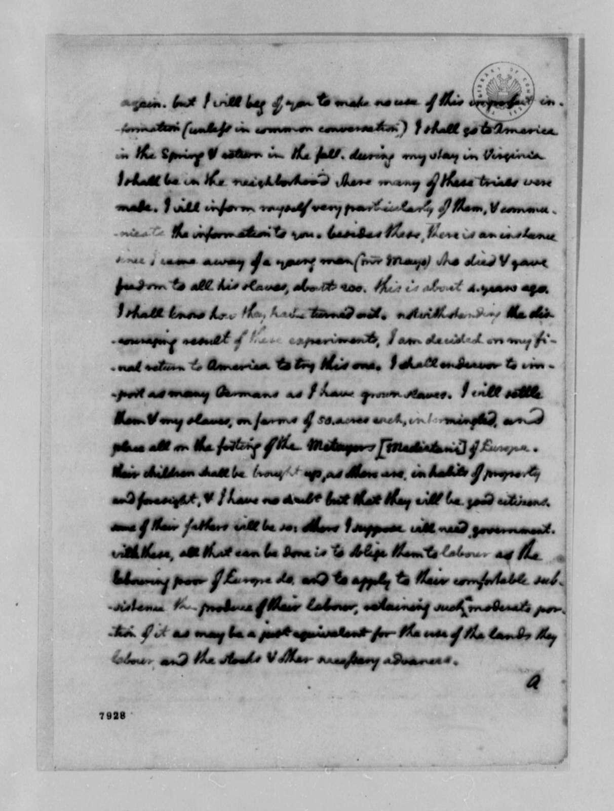 Thomas Jefferson to Edward Bancroft, January 26, 1789