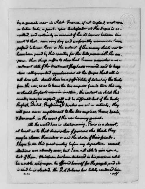 Thomas Jefferson to Eleonore Francois Elie, Comte de Moustier, March 13, 1789