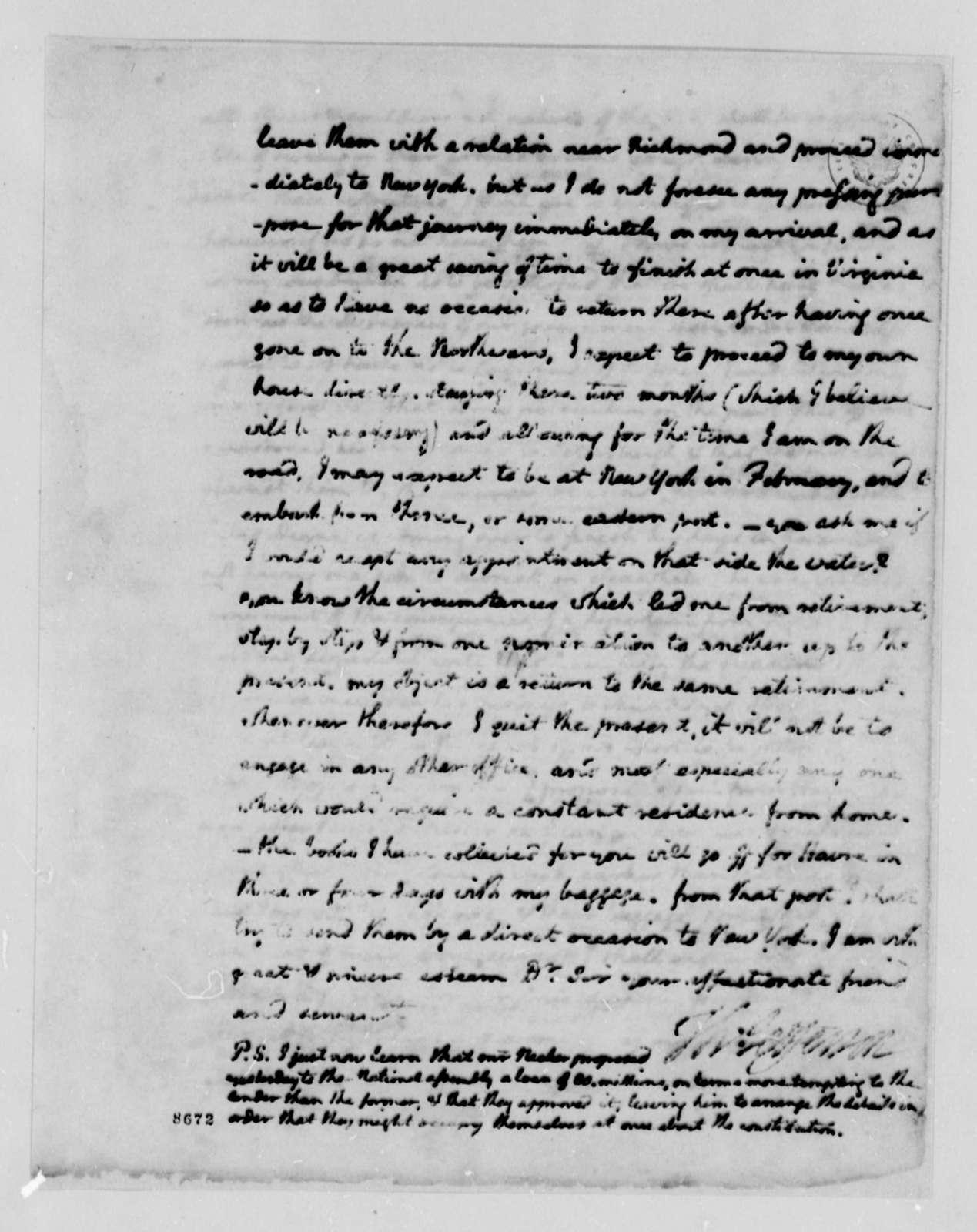 Thomas Jefferson to James Madison, August 28, 1789