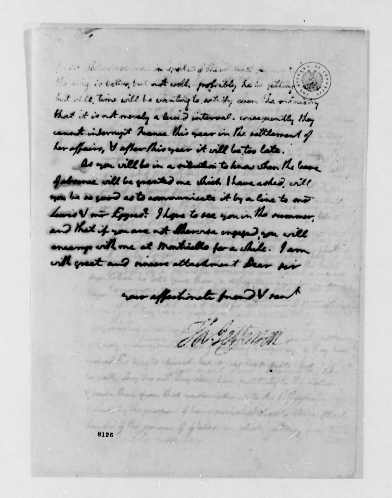 Thomas Jefferson to James Madison, March 15, 1789