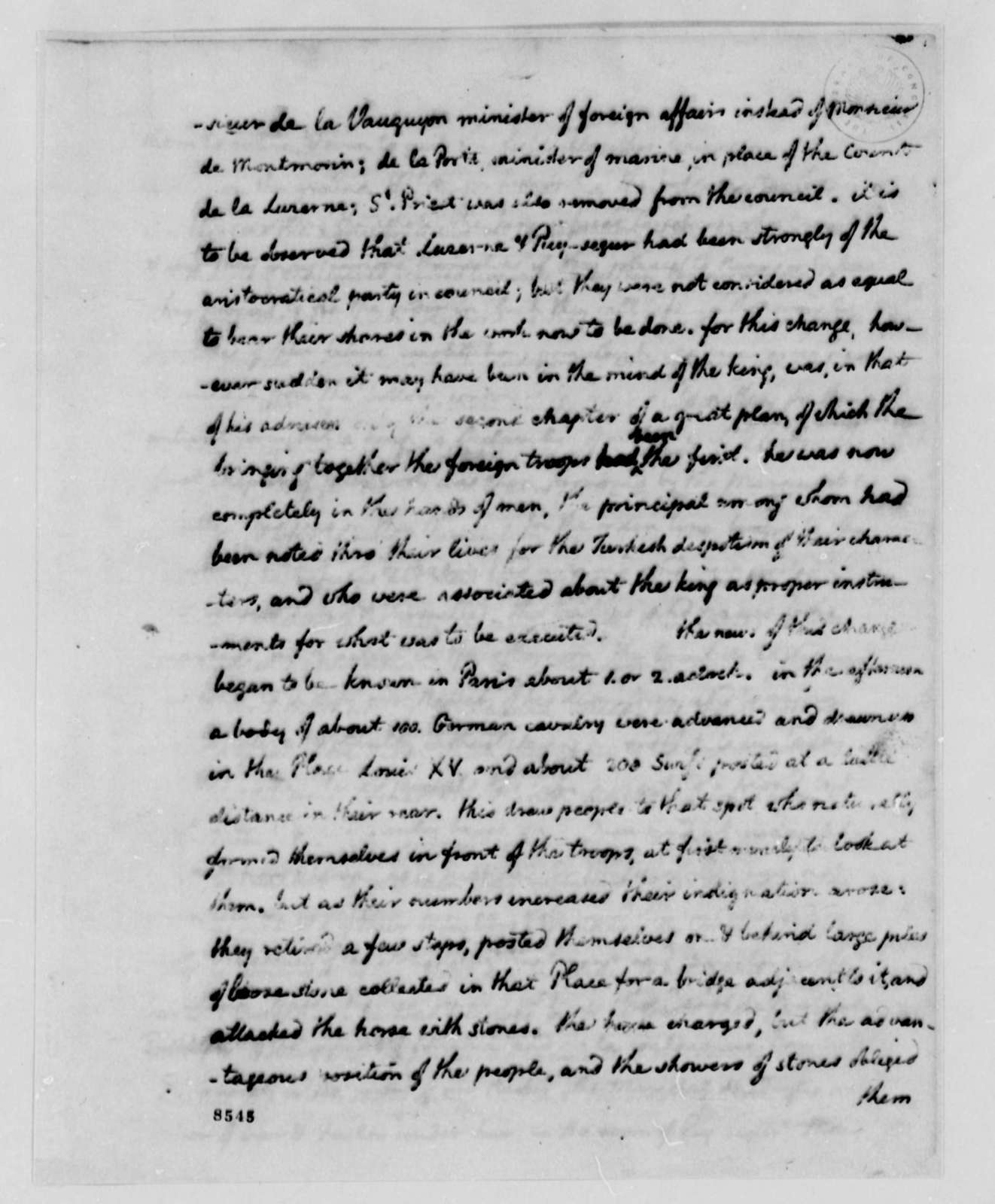 Thomas Jefferson to John Jay, July 19, 1789