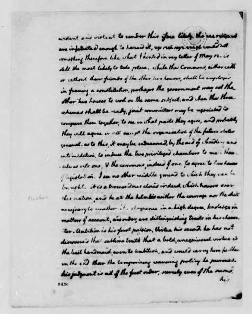 Thomas Jefferson to John Jay, June 17, 1789, Summary of Foreign Affairs