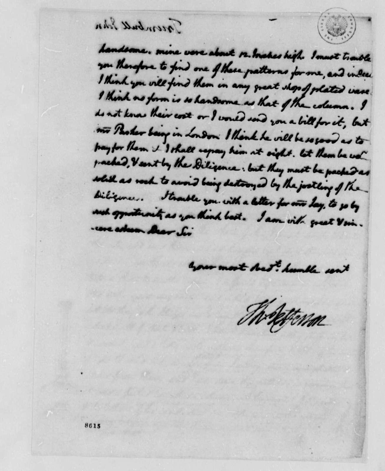 Thomas Jefferson to John Trumbull, August 5, 1789