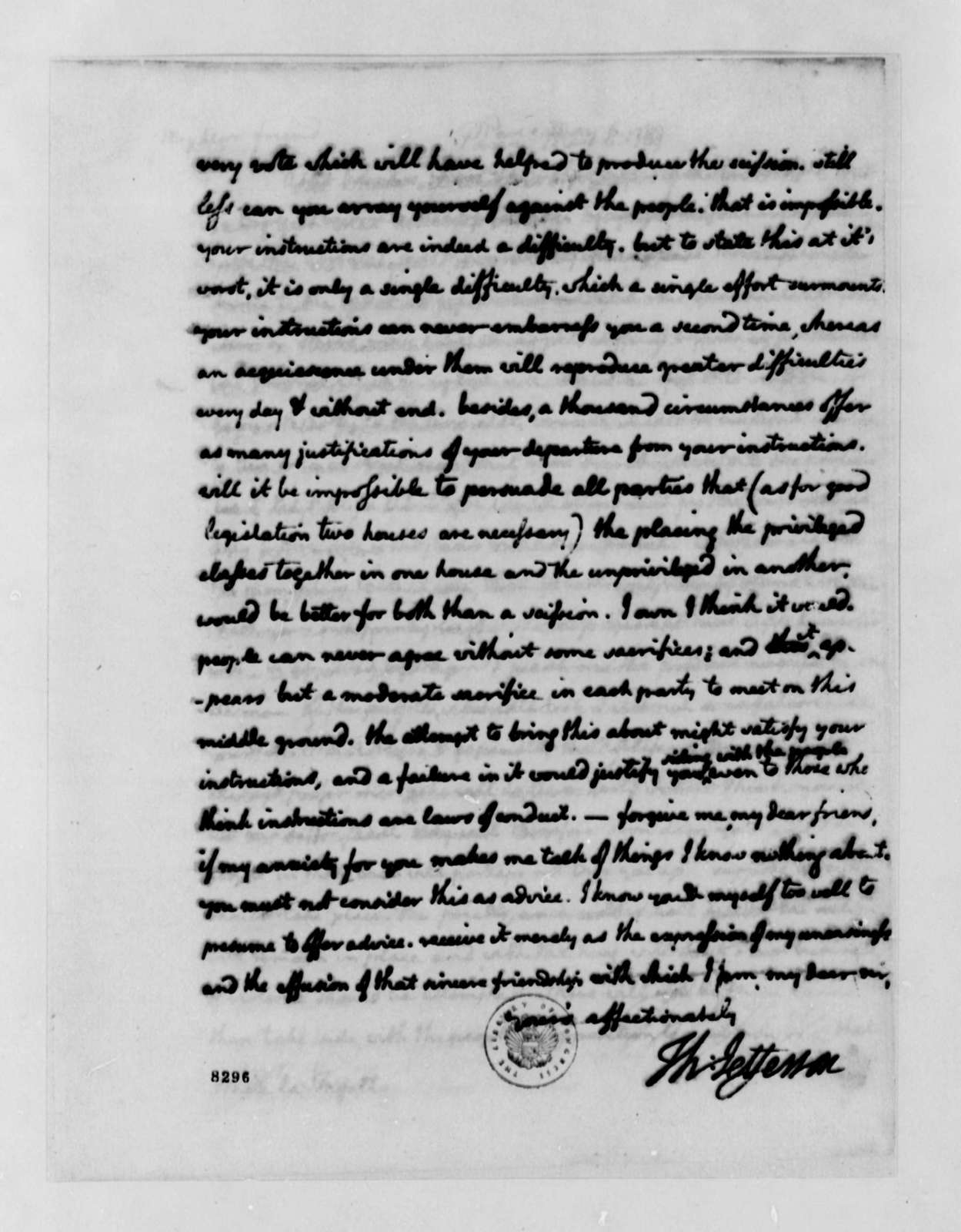 Thomas Jefferson to Marie Joseph Paul Yves Roch Gilbert du Motier, Marquis de Lafayette, May 6, 1789