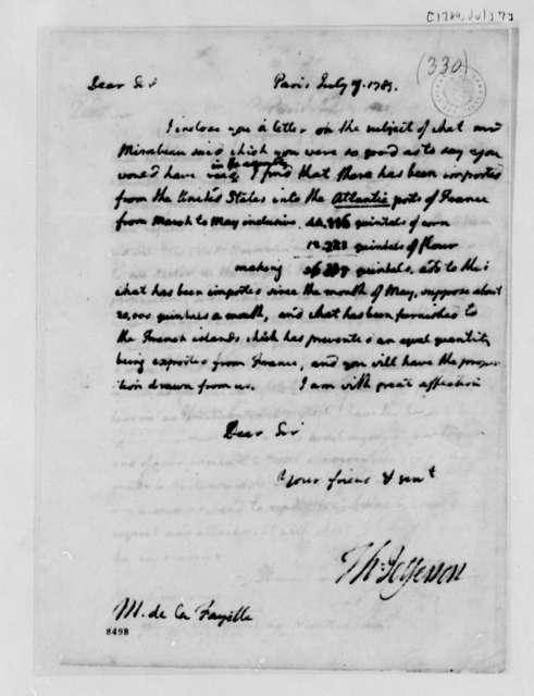 Thomas Jefferson to Marie Joseph Paul Yves Roch Gilbert du Motier, Marquis de Lafayette, July 7, 1789