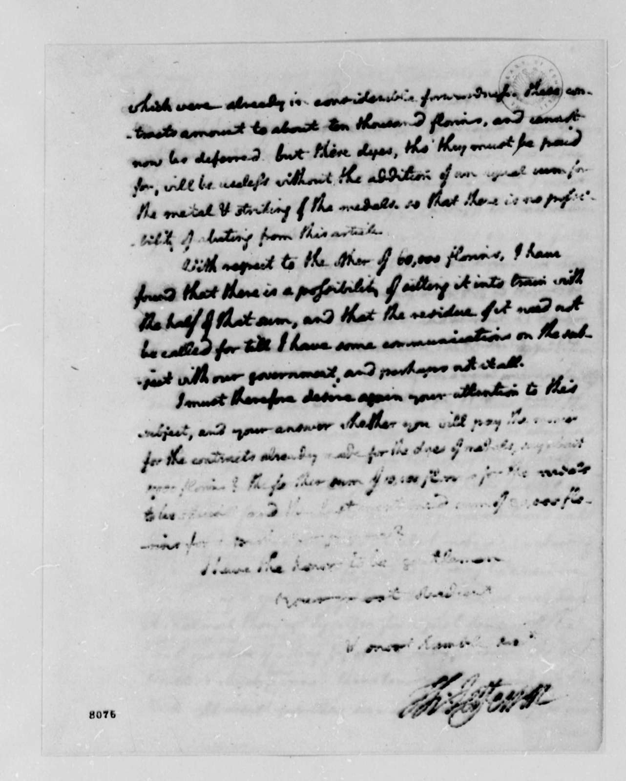 Thomas Jefferson to Wilhelm Willink, et al, March 11, 1789