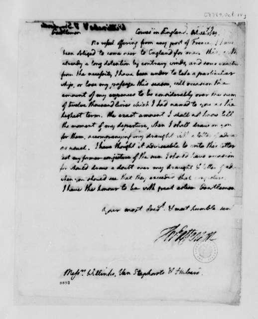 Thomas Jefferson to Wilhelm Willink, Van Staphorst & Hubbard, October 14, 1789